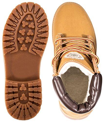 Elara - botas estilo motero Mujer marrón claro