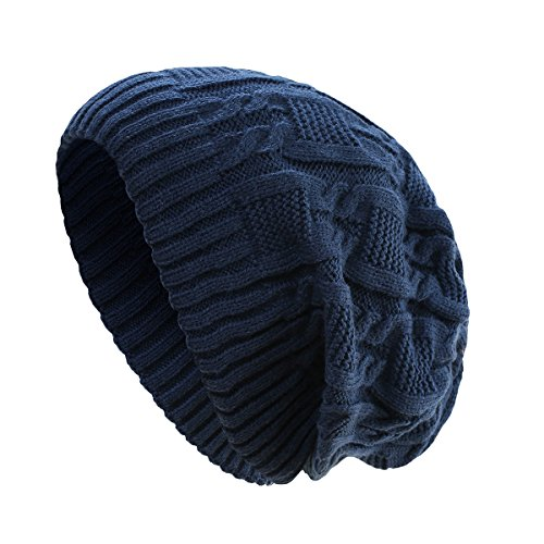 Surblue Unisex Trendy Warm Oversized Chunky Cable Knit Slouchy Beanie