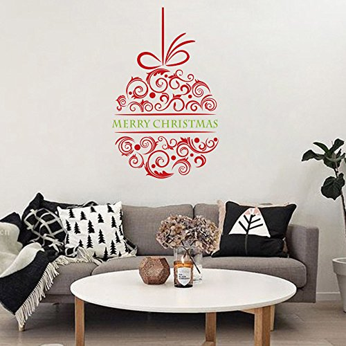 Merry Christmas Home Decor Wall Sticker Christmas Tree Gifts Christmas Wall Decals