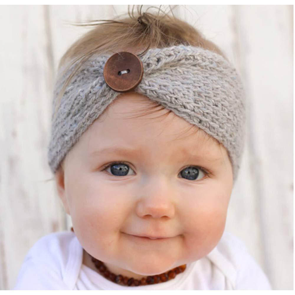 22f8db840f08 6 pièces bébé fille hiver chaud Bandeaux Turban, laine tricotée Earmuffs  cheveux élastique Wrap Headware bébé, bandes de cheveux mignon meilleur  cadeau pour ...