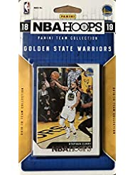 Golden State Warriors 2018 2019 Hoops Basketball Factory Sealed 9 Card NBA Licensed Team Set with Stephen Curry and Kevin Durant Plus