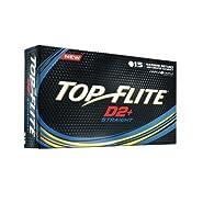 Top-Flite D2+ Straight Golf Balls 15 Count Box White