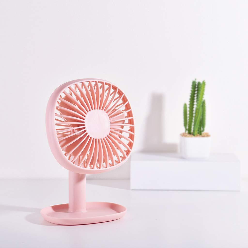 pathside Mini Electric Fan Rechargeable Portable USB Powered Fan Desktop Fan Mini Fan (Pink) by pathside (Image #2)