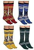 Holiday 4-Pack Jacquard Knit Unisex Crew Socks...