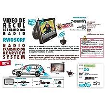"""BEEPER Ecran LCD 5"""" - Support ventouse avec rotule multi-directionnelle - Angle horizontale de prise de vue : 160° - Angle verticale de prise de vue : 100° - IP67 - Micro caméra - Kit a transmission radio - Alimentation 12 V continu DC - Portée 10m - Kit conseillé pour les véhicules particuliers et légers"""