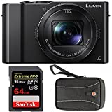 Panasonic LUMIX DMC-LX10K Digital Camera with 64GB SD Card and Case