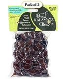 Trader Joe's Dried Kalamata Olives From Greece, 8.8 oz Bag (Pack of 2)