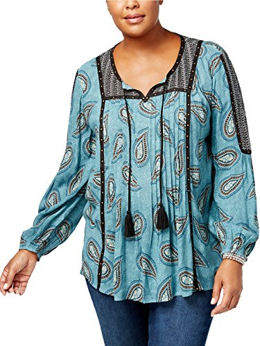 Style & Co. Plus Size Pintucked Peasant Top (3X)