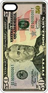Fifty Dollar Bill Cash Money President Ulysses Grant White Rubber Case for Apple iPhone 5 or iPhone 5s