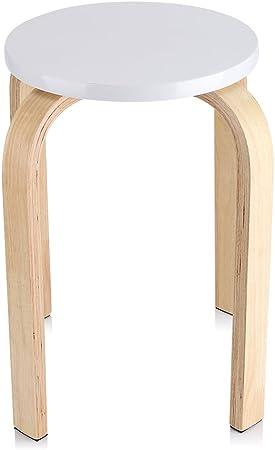 Juego de 2pcs taburetes apilables madera DUDU altura 45cm