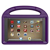 Fire HD 8 Tablet Case,Koantree Kid-Proof Shockproof Protective Stand Cover Case for Amazon Fire 8 Inch Tablet (7th Generation,2017 Release) or (6th Gen,2016 Release) (Purple)