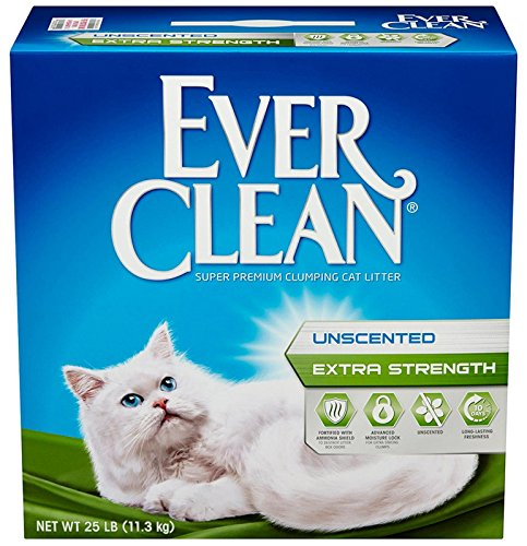 091854604179 - Ever Clean Extra Strength Cat Litter, Unscented, 25-Pound Box carousel main 0