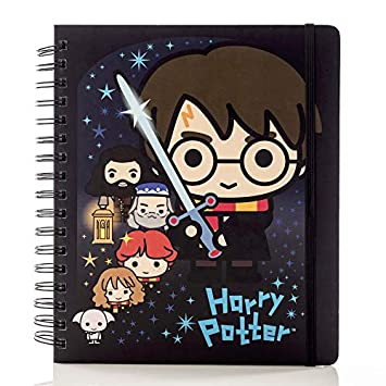 Conquest Journals Harry Potter Charms 2020 Weekly Planner, Weekly Vertical Format, Wrapped Book Board Cover, Spiral Bound, 4 Sticker Sheets, Elastic ...