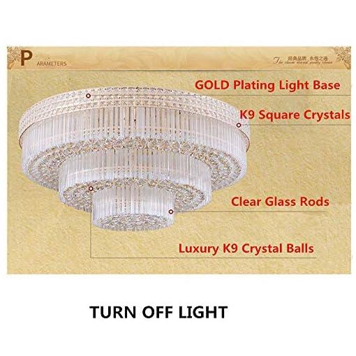 Interior Lighting KALRI Modern K9 Crystal Chandelier Flush Mount LED Ceiling Light Fixture Pendant Lamp for Living Room Bar Shop (Dia 31.5… modern ceiling light fixtures