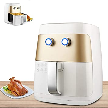 Cocina Freidora, Sin humos mecánico Multifuncional Freidoras, temperatura sincronización Freidora eléctrica, Automático apagado, Control de rotacion 1400W ...