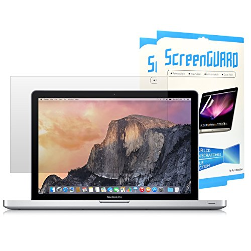 TOP CASE - (Sets of 2) Ultra-Clear High Definition (HD) Clear LCD Screen Guard for Old Generation MacBook Pro 13'' with CD-ROM / DVD Drive Model A1278 - Glossy Clear by TOP CASE
