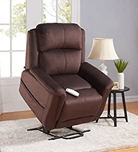 Serta Perfect Lift Chair - Full Lay Flat Recliner - Model 872-Fusion - Full Factory Warranty, Color Wellspring Walnut