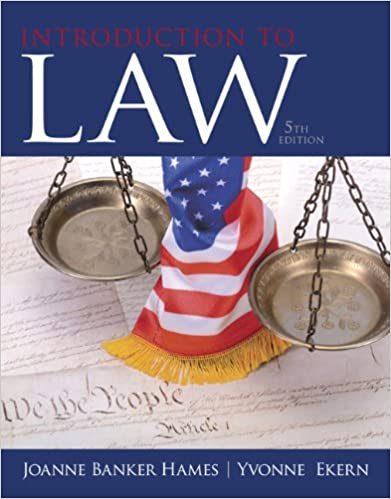 Introduction to law 5th edition joanne b hames yvonne ekern introduction to law 5th edition 5th edition fandeluxe Image collections
