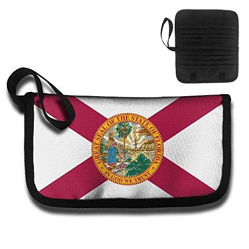 Women&Men Florida State Flag Travel Business Credit Card Holder Wallet For Credit Cards,Driver License,Name Card