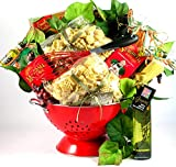 A Taste Of Italy, Italian Gift Basket with Artisan Pastas and Authentic Italian Sauce Mix In Deluxe Colander, 9 pounds (Medium)