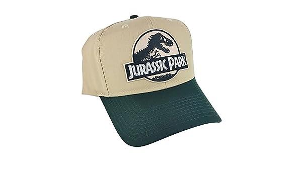 11bc79dce Amazon.com : Jurassic Park Movie Logo Desert Patch Green Khaki ...