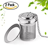 Kyпить 2 Pack Tea Ball Infuser & Cooking Infuser by House Again, Extra Fine Mesh Tea Infuser Screw Top 18/8 Stainless Steel with Extended Chain Hook to Brew Loose Leaf Tea, Spices & Seasonings на Amazon.com