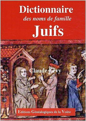 Livres Dictionnaire des noms de famille juifs epub, pdf