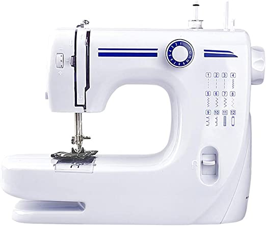 Máquina de coser portátil, máquina de coser multifunción de 12 puntadas con pedal, ajustable de 2 velocidades de ...