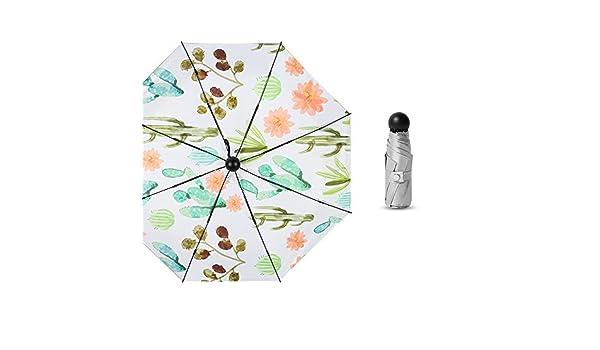 Comeyang Paraguas Compacto y a Prueba de Viento Que Abre y Cierra automáticamente el Paraguas Plegable,50% de Descuento 8 cápsula de Hueso sombrilla de Plata de Titanio Color sombrilla4 95cm: Amazon.es: Hogar