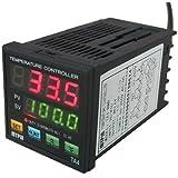 AGPtek® Dual Digital Display PID Temperature Controller SSR(2 Alarms)