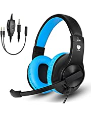 Samoleus Cuffie Gaming con Microfono, Cuffia Stereo con Cavo, Cuffie da Gaming per Xbox One, PS4, Nintendo Switch, Mobile Phone, PC (Rosa - Xbox One)