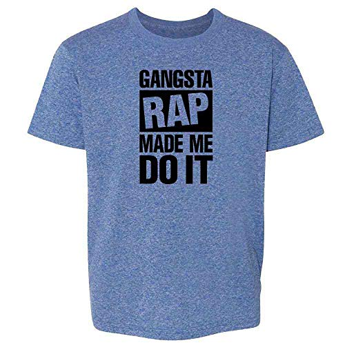 Pop Threads Gangsta Rap Made Me Do It Heather Royal Blue 5 Toddler Kids T-Shirt