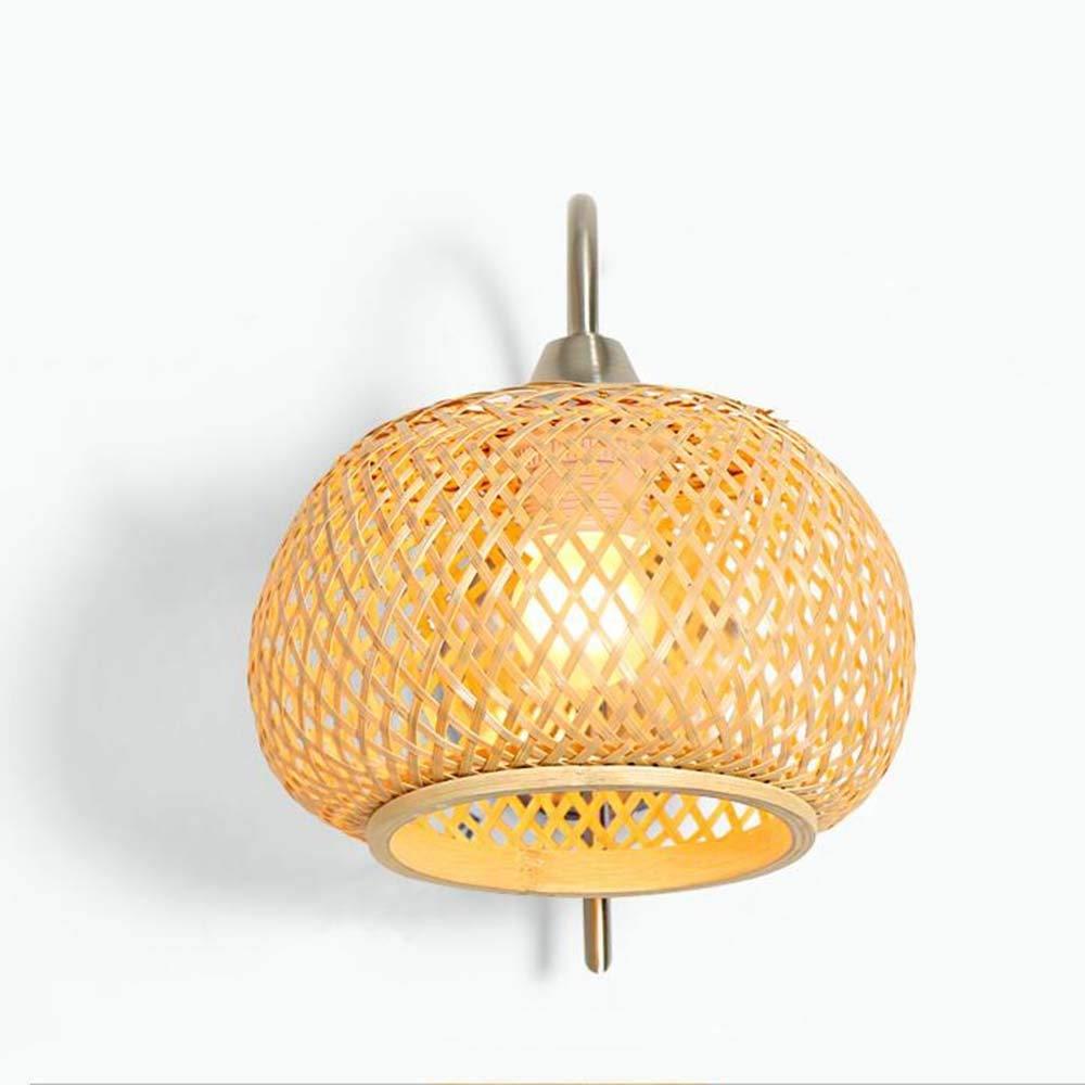 Energieeinsparungen einstellbar - gewebt Bambus Lampe hades Einfache und moderne Lounge Bett im Schlafzimmer Balkon laufen (nicht der Lichtquelle.