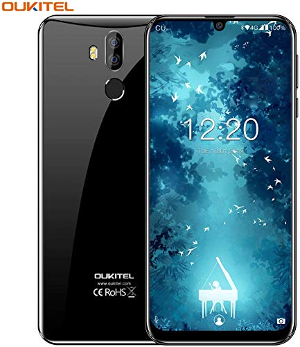Unlocked Cell Phones OUKITEL K9 64GB Smartphones 7.12 Inch Large Screen Phone 6000mAh Big Battery Octa-Core Android Phones 9.0 4GB+64GB Dual SIM Sony Camera 16MP [Global]