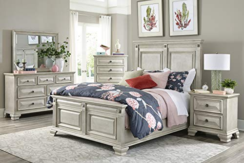 Bedroom Passages Light White Queen Bed farmhouse beds and bed frames