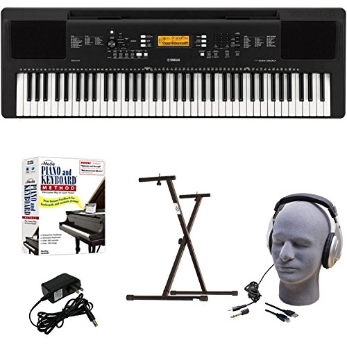 [해외]Yamaha PSR-EW300 EPY Educational Keyboard Pack with Power Supply Bolt-On Stand Headphones USB Cable and Instructional Software / Yamaha PSR-EW300 EPY Educational Keyboard Pack with Power Supply, Bolt-On Stand, Headphones, USB Cable...
