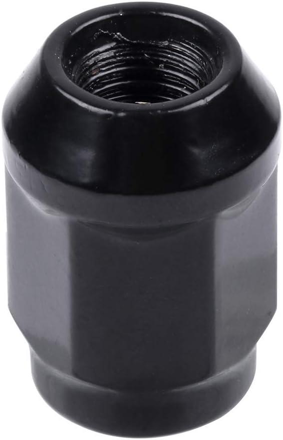 ZENITHIKE 20 pcs Black Wheel Lug Nuts 12x1.5 3//4 Drive Closed End Fits For Ford Acura Cadillac Chevy Honda Kia Lexus Lincoln 1982-2014