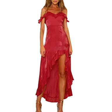 Lolittas Summer Evening Wedding Maxi Dresses for Women,Red Sexy Vintage Skater Cocktail Prom Bandeau
