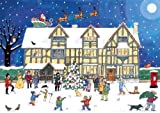 Alison Gardiner Famous Illustrator Unique Traditional Advent Calendar - Designed in England - Beautiful Festive Scene at the Old Town House