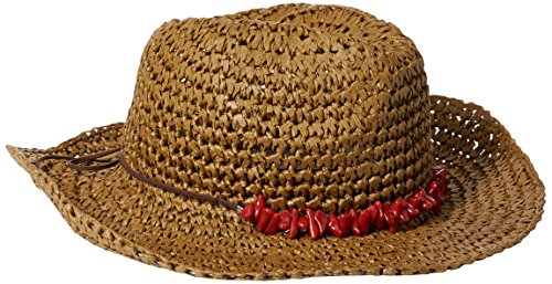 Collection XIIX Women's Crochet Cowboy with Stone Band Hat, Brown, One Size