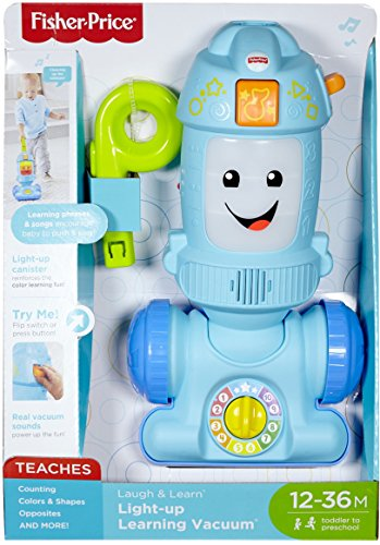 51LJWXksywL - Fisher-Price Laugh & Learn Light-up Learning Vacuum
