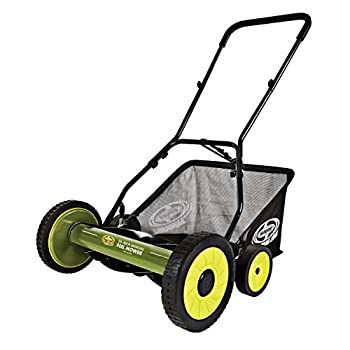 "Snow Joe MJ502M Sun Mow Joe 20"" Manual Reel Mower with Catcher, 20"", Green"