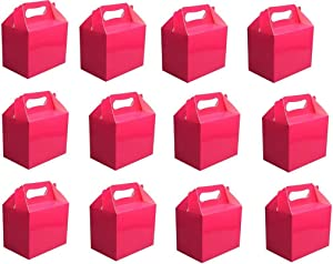 Shatchi 30Pk Hot Pink Childrens Lunch Takeaway Birthday Wedding Cake Meal Food Boxes Party Bags Bulk