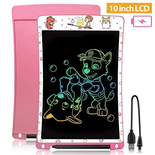 🥇 WOBEECO Tableta de Escritura LCD 10 Pulgadas Recargable| Tablet para niños | Ideal como Pizarra Digital para Aprender a Leer y Escribir | Juguete Educativo