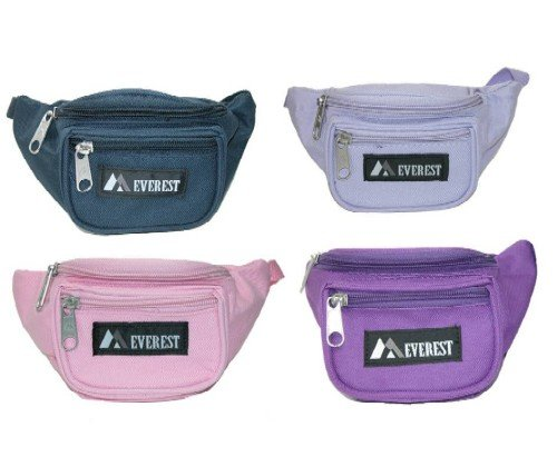 Everest Signature Waist Pack - Junior, Black, One Size 3 Our waist pack line has always been one of the original leaders in waist pack styles, and we are continuing that tradition with our junior waist pack line. The pack's compact size makes it perfect for kids and youths.