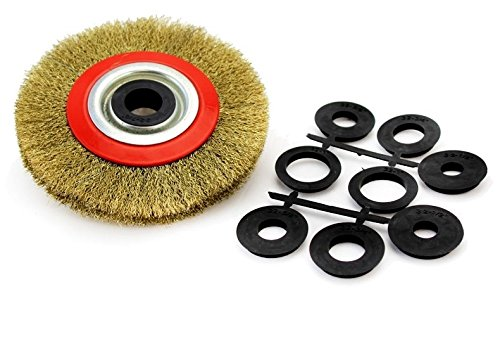 Wire Wheel Brush – Heavy Duty And Durable Industrial Grade 6″ Crimped Wire Brush- Tools & Home Improvement, Power & Hand Tools, Power Tool Parts & Accessories, Abrasive Wheels & Discs – By Katzco For Sale