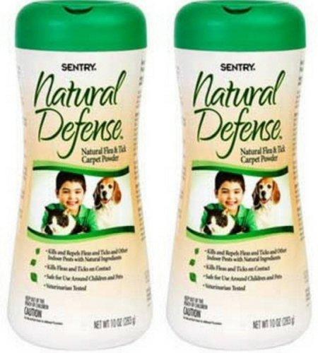 SentrySafe Natural Defense Flea & Tick Household Powder, 20oz (2 x 10oz)