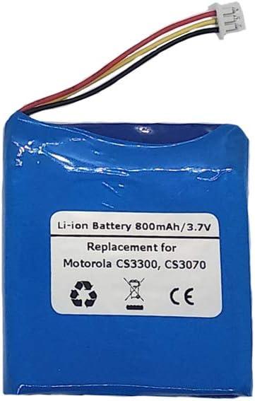 3.7V//800mAH Replacement Battery for Motorola CS3300 Fits Motorola 82-133770-01 Bluetooth Wireless USB Barcode Scanners CS3070