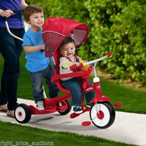 Radio Flyer Ride & Stand Stroll 'N Tricycle, Kids Tricycle
