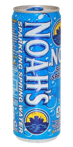 Noah's Spring Water, Sparkling, 110 mg of Magnesium, 12 Ounce Can, Pack of 12